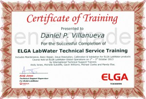 Enzed Trade Inc - ELGA certificate